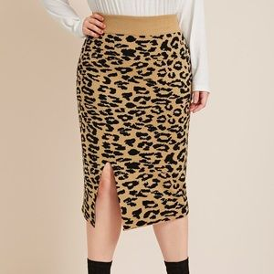 2 for $60 | SHEIN | Leopard Print Knit Skirt NEW